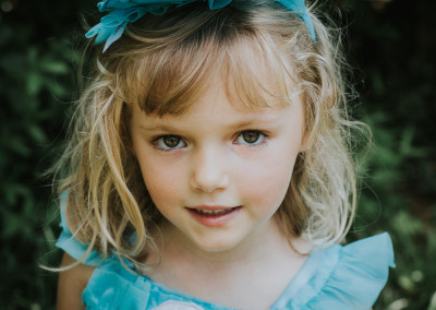 Gorgeous child portrait at an event in downtown Wilmington NC
