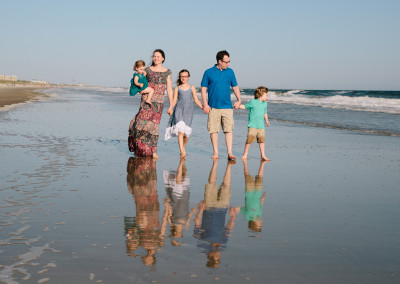 Perfect beautiful Family Portrait taken by Elizabeth Ellen Photography at Oak Island Beach