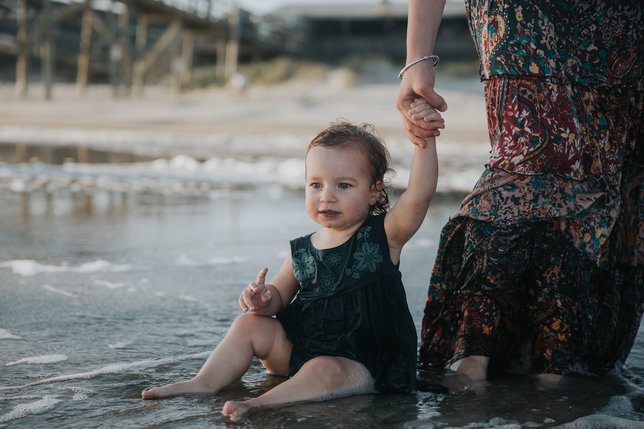 Family Beach Photography Session at Oak Island Beach